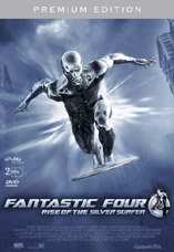 DVD-Cover: Fantastic Four - Rise of the Silver Surfer  <br> <font color=silver>Premium Edition</font>, mit Ioan Gruffudd, Jessica Alba, Chris Evans, Michael Chiklis, Julian McMahon, Kerry Washington, Laurence Fishburne (Stimme des Silver Surfers im OT), ...